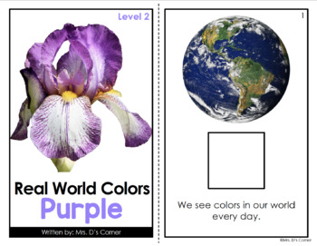 Purple - Real Life Colors Adapted Book Bundle | Real Picture Color Books