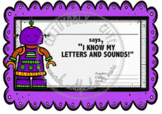 Purple Robot I know my Letters and Sounds Award