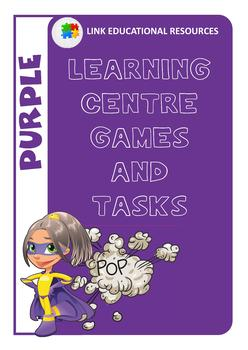 Purple Sight Word Centre Games