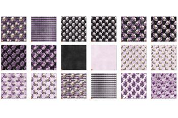 Purple Skull Digital Paper