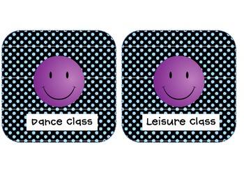 Purple Smile Dismissal Clip Chart