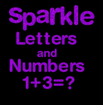 Purple Sparkle Letters