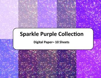 Purple Sparkle Paper