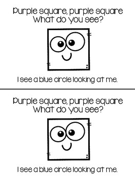 Purple Square What Do You See - Teacher and Class Book