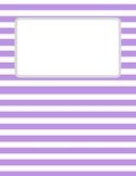 Purple Striped Binder Cover