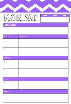 Purple Teacher Planner