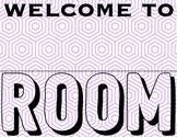 Purple Teacher Room Sign
