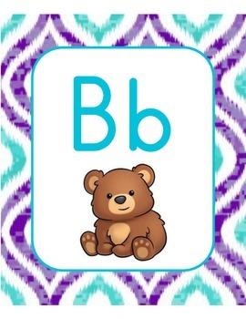 Purple Teal Alphabet