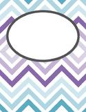 Purple & Teal Chevron Binder Cover