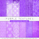 Purple Textures Digital Paper, scrapbook backgrounds