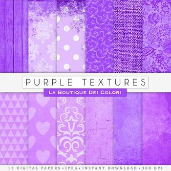 Purple Textures Digital Paper, scrapbook backgrounds