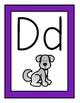 Purple Theme Alphabet Posters