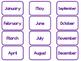 Purple Today Is....Mat, Cards, Labels. Preschool-Kindergar