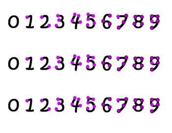 Purple Touch Math Strips