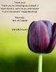 Purple Tulip Newsletter Template