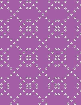 Purple Tulip Pattern Digital Paper