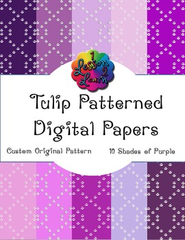 Purple Tulip Pattern Digital Paper