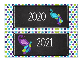 Peacock Calendar Bundle--Purple, Teal, and Lime Green