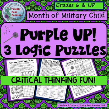 Careers, Military Child, DoDEA, Critical Thinking, Logic Puzzle