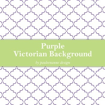 Purple Victorian Pattern Background