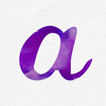 Purple Watercolor Letters