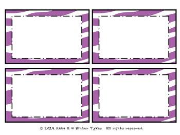 Purple Zebra Labels by Kinder Tykes