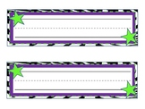 Purple Zebra Star Nameplates!