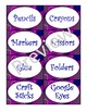 Purple Zingy Dot Supply Labels