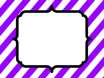 Purple and Black Borders and Frames
