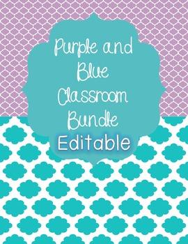 Purple and Blue Classroom