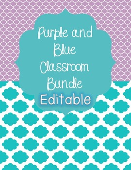 Purple and Blue Classroom