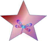 Purple and Blue Dragonfly Star (png) digital download