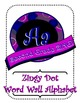 Purple and Blue Zingy Dot Word Wall Alphabet