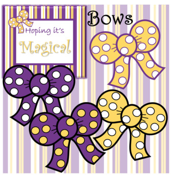 Purple and Gold Bows