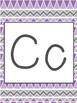 Purple and Gray Alphabet Line