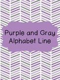 Purple and Gray Alphabet Line