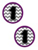 Purple and Gray Chevron Table Numbers