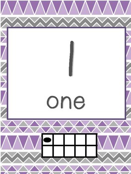 Purple and Gray Number Line