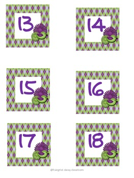 Purple and Green Passion number squares