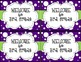 Purple and Green Polka Dot Back to School Post Card