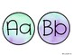 Purple and Green Watercolor Word Wall Letters