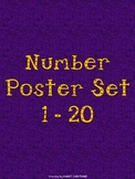 Purple and Orange Number Posters