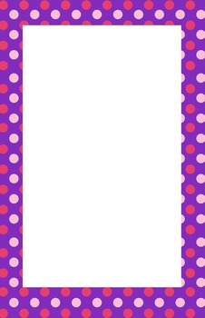 Purple and Pink Polka dot Border