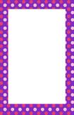 Purple and Pink Polka dot Border