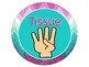 Purple and Teal Chevron Hand Signal Display