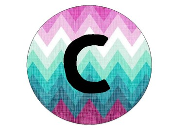 Purple and Teal Chevron Welcome Sign