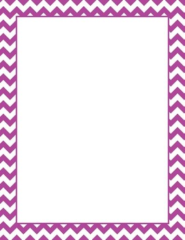 Purple and White Chevron Border