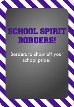 Purple and White - School Spirit Borders 4 Pack