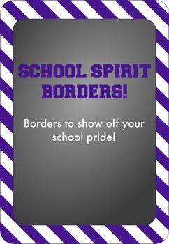 Purple and White - School Spirit Borders 9 Pack