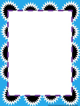 Purple and blue/turquoise frames